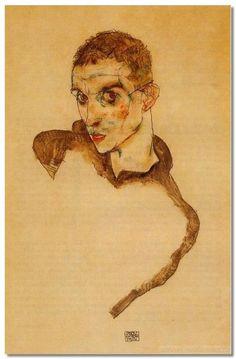 Эгон Шиле.Э.Шиле. Автопортрет. 1914 г