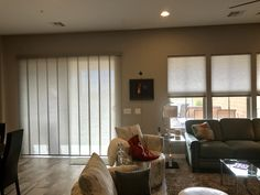 """Skyline panels and Duette cell shades  623.986.032"""" Elite shutters and blinds  Arizona"""