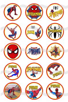 Spiderman (3) Digital Bottle Cap Images For Necklaces, Charms, Magnets, Bracelets. $1.50, via Etsy.
