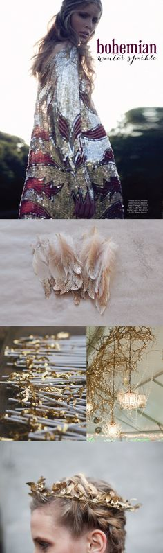 Bohemian Winter Sparkle inspired | perfect for a winter wedding or holiday party! | Wiley Valentine