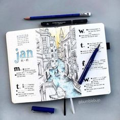 Are you looking for over amazing City themed bullet journal spreads to fill your journal? These are gorgeous and easy to create. These spreads are inspiring and will make you want to to travel! Travel Journal Scrapbook, Bullet Journal Travel, Bullet Journal Books, Bullet Journal Ideas Pages, Bullet Journal Inspiration, Travel Journal Pages, Travel Journals, Bullet Journal Japan, Travel Books