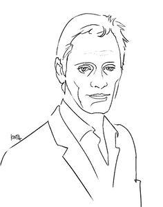 #ViggoMortensen #portrait #cinema #art #fashion #illustrator #kentaueoka #ウエオカケンタ
