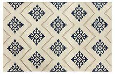 One Kings Lane - Style Star - Sno Flat-Weave Rug, Bokrum Blue