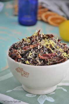 Red Quinoa with Sundried Tomatoes and Pine Nuts {Gluten-Free, Dairy-Free, Vegan}
