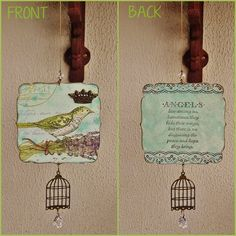 Pêndulo Bird Cage #pêndulo #pendulum #bird #littlebird #passarinho #azul #gaiola #birdcage  #coroa  #crown