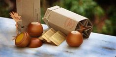 Spherical Wooden Perfumes - Pacific Perfumes' Eco-Friendly Cosmetic Packaging is Protected in Wood (GALLERY)