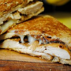 dijon chicken club sandwiches. (a fellow pinner says....the dijon chicken marinade is awesome by itself.)