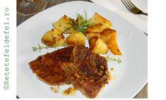 O friptura de porc la cuptor delicioasa,foarte frageda si care nu necesita foarte mult … Steak, Chicken, Pork, Steaks, Cubs