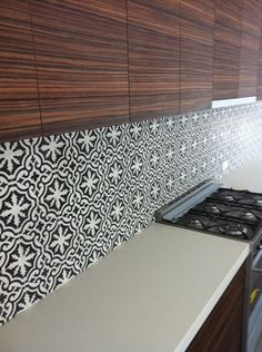 Divine Renovations Moroccan Tile Inspiration #Black #White #Pattern #Stunning #Contrast                                                                                                                                                                                 More