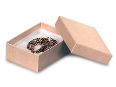"3x2-1/8x1"" Brown Kraft Jewelry $26.50 for 100 boxes"