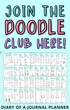 Learn how to doodle with of 99 printable doodle tutorials. These beginner-friendly doodle tutorials and are perfect for keeping you busy for hours. #doodle #drawing Space Doodles, Food Doodles, Birthday Doodle, Happy Doodles, Bullet Journal Printables, Alcohol Markers, Flower Doodles, Easy Drawings, Hand Lettering