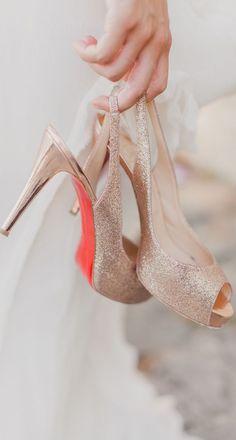 Christian Louboutin wedding heels. #bridal #weddings