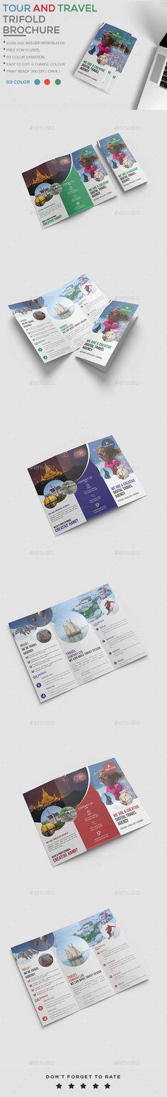 #Travel agency #Brochure - Brochures #Print Templates Download here: https://graphicriver.net/item/travel-agency-brochure/20376059?ref=alena994