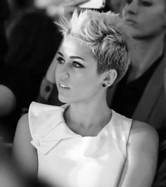 Mileys totally killin the short funky cut