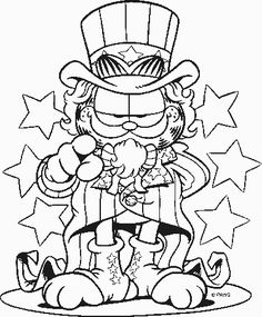 Garfield Outline Disney Coloring Pages Book Printable