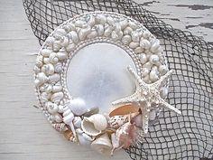 Nautical Shell Mirror Round Large Starfish Beach by Seashell Art, Seashell Crafts, Seashell Projects, Shell Ornaments, Sea Crafts, Shell Beach, Craft Sale, Beach House Decor, Mosaic Art