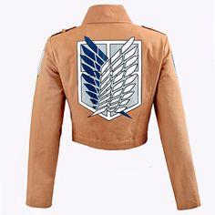 Tấn công titan jacket shingeki không kyojin legion coat cosplay eren levi áo khoác cộng với kích thước miễn phí vận chuyển halloween trang phục