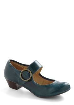 Few Steps Forward Heel in Blue. Move your fashion forward in strides with these charming Mary Jane heels by Chelsea Crew. #blue #modcloth