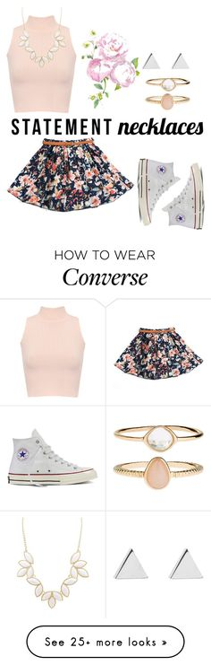 """STATEMENT Necklace"" by gopsl17 on Polyvore featuring WearAll, Converse, Charlotte Russe, Accessorize and Jennifer Meyer Jewelry"