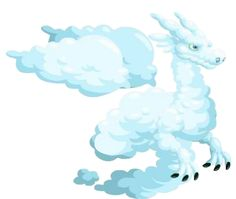 Cloud dragon-----From Dragon City Kawaii Drawings, Draco, Monster High, Diy For Kids, Amazing Art, Disney Characters, Fictional Characters, Pokemon, Clouds