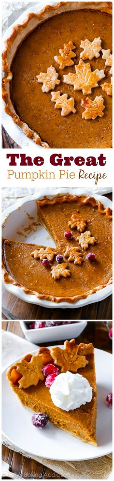 The Great Pumpkin Pie Recipe. This recipe bursts with bright pumpkin flavor and the secret ingredient puts it over the TOP! The Great Pumpkin Pie Reci. The Great Pumpkin Pie Recipe, Pumpkin Pie Recipes, Fall Recipes, Holiday Recipes, Homemade Pumpkin Pie, Pumpkin Pies, Christmas Desserts, Desserts Keto, Delicious Desserts
