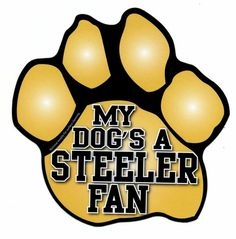 #Pittsburgh #Steelers 'MY #DOG'S A STEELER FAN' Paw Print Car #Magnet
