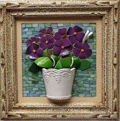 ideas for wall picture ideas stains Mosaic Tray, Mirror Mosaic, Mosaic Wall Art, Mosaic Glass, Mosaic Tiles, Glass Art, Stained Glass, Mosaic Madness, Garden Wall Art