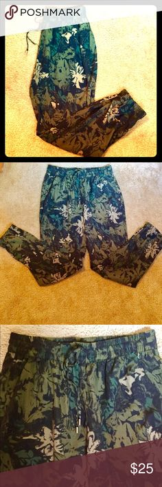 Camo pant (Buffalo Brand) You can dress these up with a pair of heels or keep them casual. 100% polyester. Pants