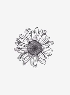 simple sunflower tattoo design idea with pointillism and linework elements, pin: morganxwinter