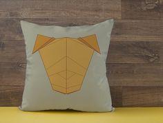 Capa de almofada Cachorro Origami 1