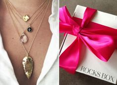"Afraid to commit to the latest jewelry trend? ""Rocks Box"" can help you had the bling without the buyer's remorse."