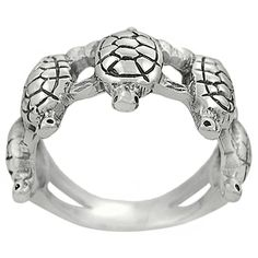 Shop for Journee Sterling Silver Five Turtles Band Ring. Get free delivery On EVERYTHING* Overstock - Your Online Jewelry Destination! Turtle Ring, Turtle Love, Sea Turtles, Jewelry Box, Jewelery, Turtle Jewelry, Tortoise Turtle, Tortoises, Necklaces