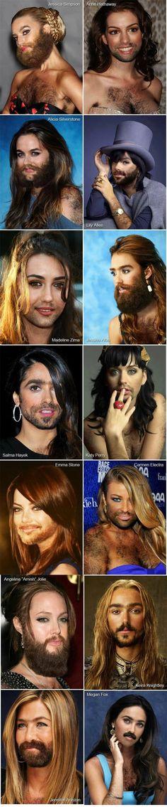 Female beards...lol