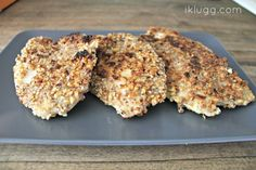 pecan crusted tilapia with a balsamic vinegar drizzle