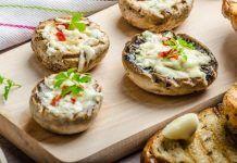 Закуска на Миллион: Сытные Фаршированные грибы с орехами и сыром