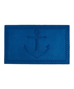 Look at this Blue Anchor Doormat on #zulily today!