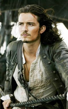 Orlando Bloom.  So hot as Will Turner in the Pirates of the Caribbean movies.LADIES HE IS JUST AS HOT IN PERSON!