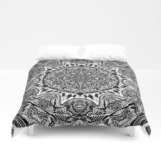 Black and white Mandala Duvet Cover
