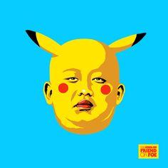 Hilarious Illustrations Transform 'Kim Jong-un' into Various Pop Culture Characters (Pikachu)