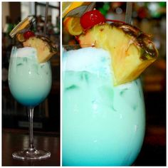 Ben and Jacks Swimming Pool: Vodka, Coconut Rum, Pineapple Juice, Heavy Cream, Blue Curaçao