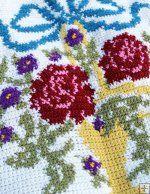 English Garden Afghan and Pillow Crochet Pattern Crochet Pattern English Garden Afghan and Pillow [PA878] -: Maggie Weldon, Free Crochet Patterns