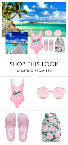 """""""#Contest2"""" by lgeorgiou ❤ liked on Polyvore featuring Topshop, Matthew Williamson, Puma and ban.do"""