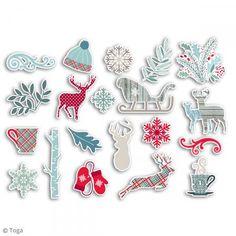 Chipboard de cartón Solsticio de invierno - 20 formas - Fotografía n°2