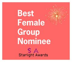 """Female Group Nominees"" by starlight-awards ❤ liked on Polyvore"