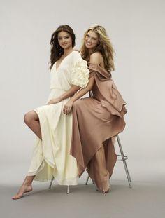 Miranda Kerr and Delta Goodrem #Australia #celebrities #DeltaGoodrem Australian celebrity Delta Goodrem loves http://www.kangafashion.com
