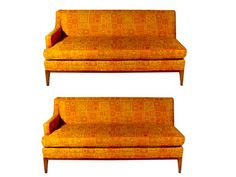 Pair of Mid Century Sectional Sofas - $1800.