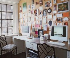 Home Office/ Studio -- Nate Berkus and Anne Coyle Design via Elle Decor Office Inspiration, Office Ideas, Inspiration Boards, Design Inspiration, Creative Inspiration, Office Designs, Daily Inspiration, Elle Decor Magazine, Home Design