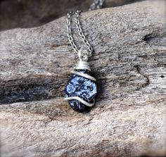 Raw Sapphire Necklace // Rough Stone Necklace by GypsyGemsHawaii