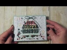 Happy Birthday card using Pop Up Thinlits from Stampin'Up! - YouTube