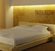 led strip lighting creates warm, pleasant, indirect lighting behind valance